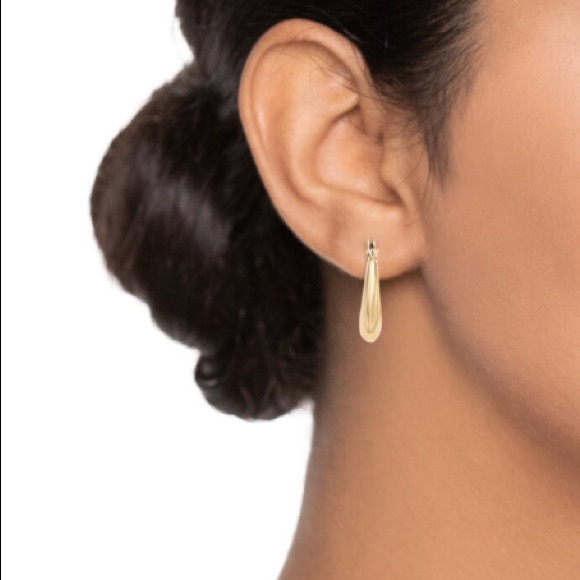 Napier Small Gold Click-it Hoop Earrings